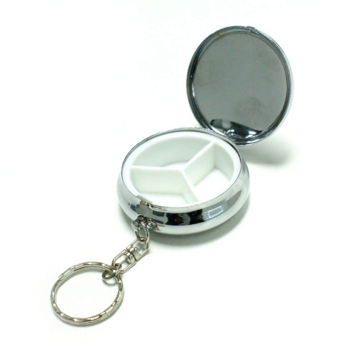 ポータブルピルケース(錠剤ケース/ シルバー)