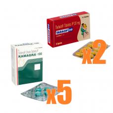 【EDジェネリック人気コンビ】カマグラゴールド5箱+タダシップ2箱セット