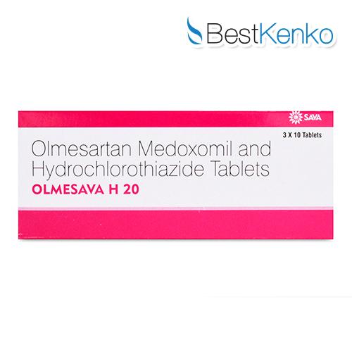 オルメサバH20(オルメサルタン20mg+ヒドロクロロチアジド12.5mg)