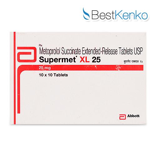 スーパーメット(コハク酸メトプロロールXL)25mg