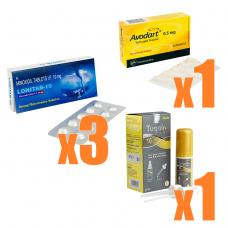 AGA治療クリニック処方薬セット【ミノキシジル x デュタステリド】(1ケ月分)