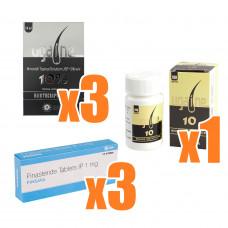 AGA治療クリニック処方薬セット【ミノキシジル x プロペシアジェネリック】(3ケ月分)