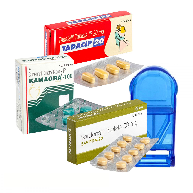 1番人気ED治療薬ジェネリック3種スペシャルセット+ピルカッター