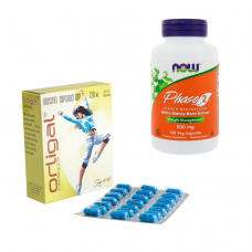 【大容量!脂質&糖質オフセット】オルリガル84錠(ゼニカル・ジェネリック)+フェーズ2(糖質制限サプリ)120錠