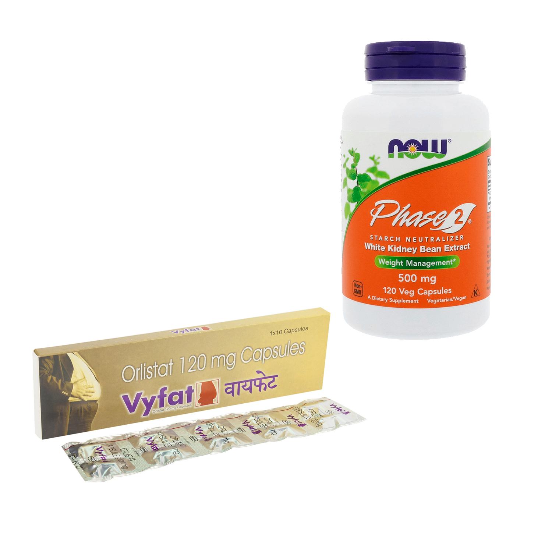 【脂質&糖質オフセット】ビーファット(ゼニカル・ジェネリック)+フェーズ2(糖質制限サプリ)120錠